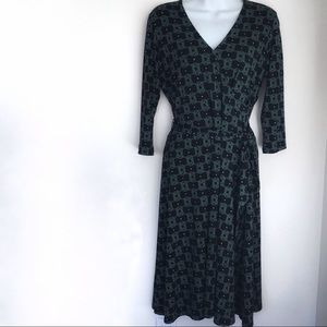 Leota Perfect Wrap Dress in a Retired Print M
